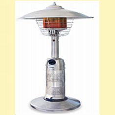 Round Stainless Steel Tabletop Patio Heater Halogen Floor