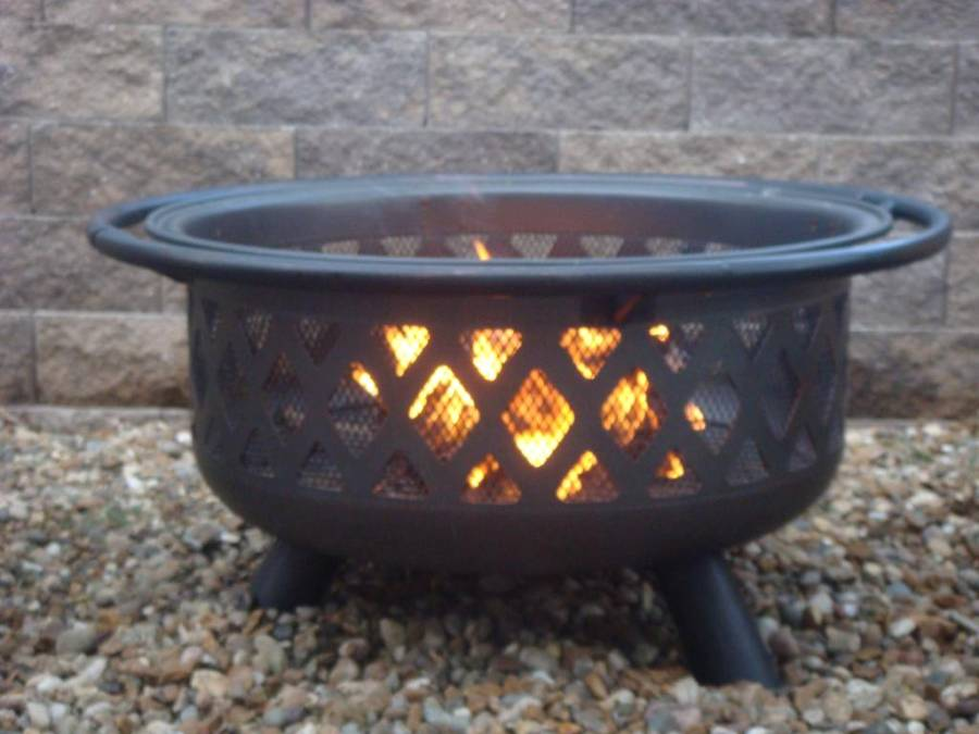 Oil rubbed bronze outdoor firebowl wad792sp for Outdoor fire bowl