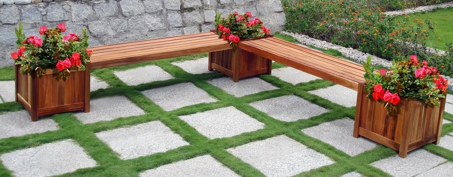 Double Bench and Flower Box Combo - V295