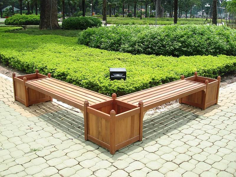 Double Bench And Flower Box Combo V295