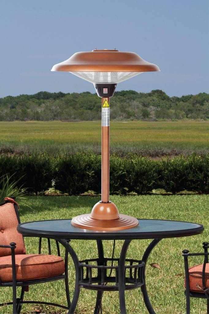 Halogen Copper Table Top Patio Heaters