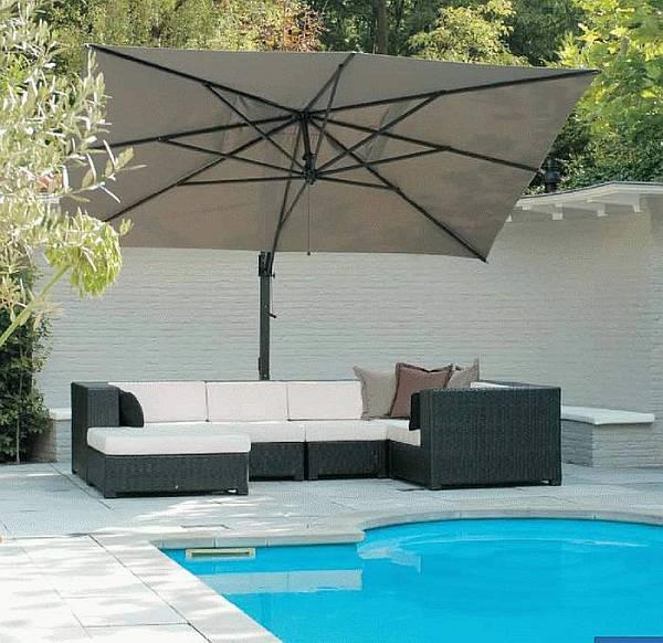 Side Post Umbrellas Provide Ultimate Shade  Outdoor Patio Ideas