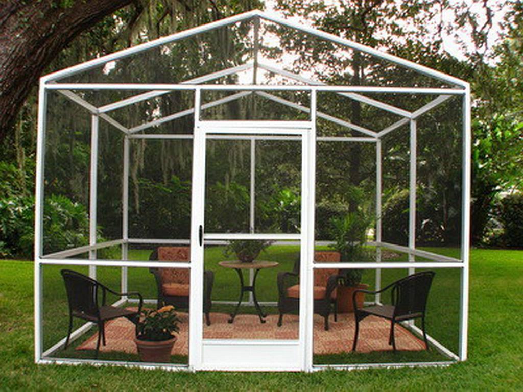 A Screened Enclosure You Can Afford   Outdoor Patio Ideas