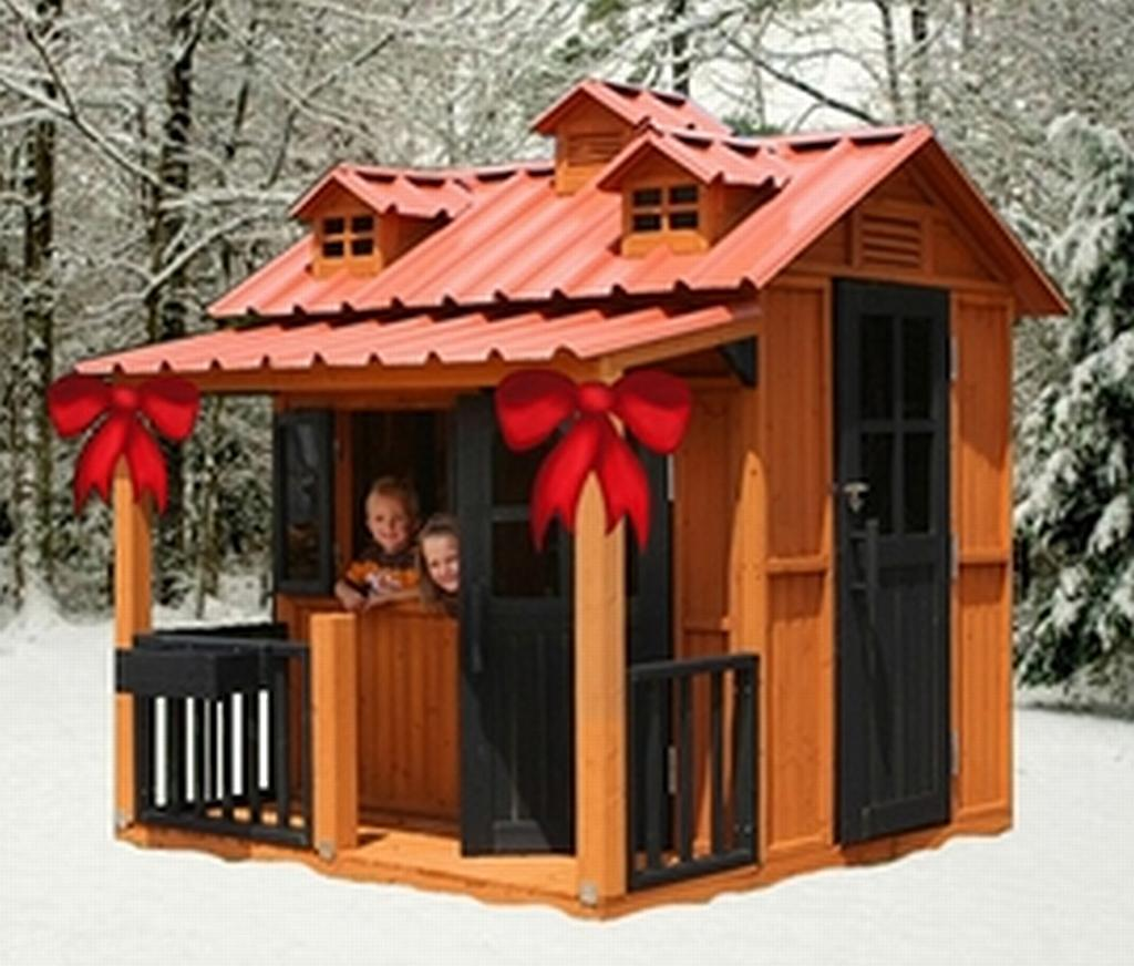 Kitchen design gallery playhouses for children for Kids outdoor playhouse